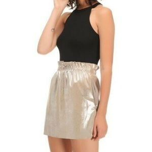 Zara Metallic Mini Skirt